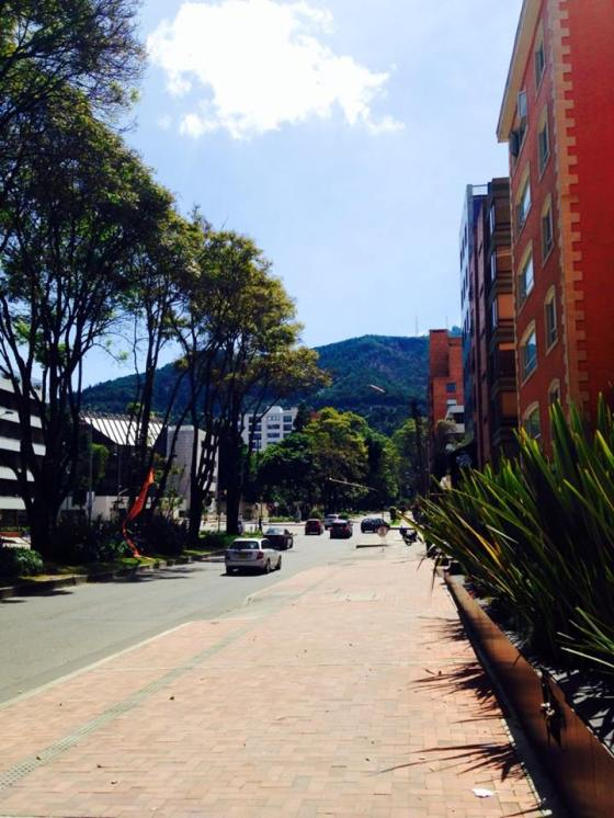 Some nice buildings near  el Parque de la 93, a nice urban park in an upper class Bogota neighborhood.