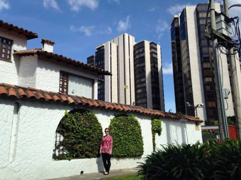 An example of old and new intermingling in Bogota. This is near my grandmother's apartment.