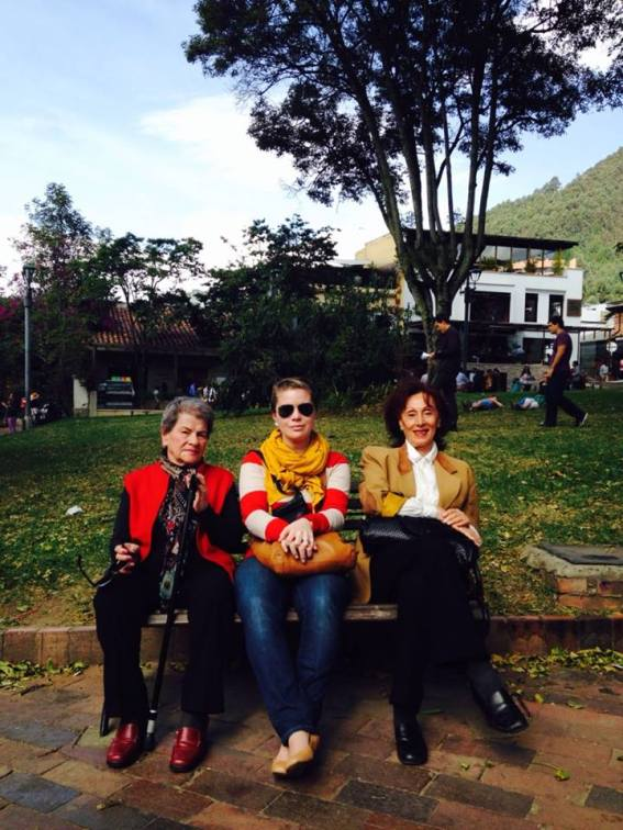 My grandmother, sister and my grandmothers friend Sylvia chillin on a bench in El Parque de Usaquen. It was a tight squeeze but when you gotta rest, you gotta rest.