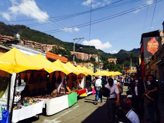 The flea market in Usaquen. Lots of artisinal jewelry, desserts, crafts, souvenirs and knitted clothes.