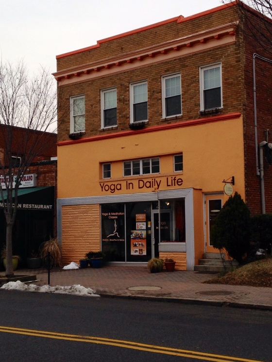 One of several yoga studios in the Del Ray neighborhood.