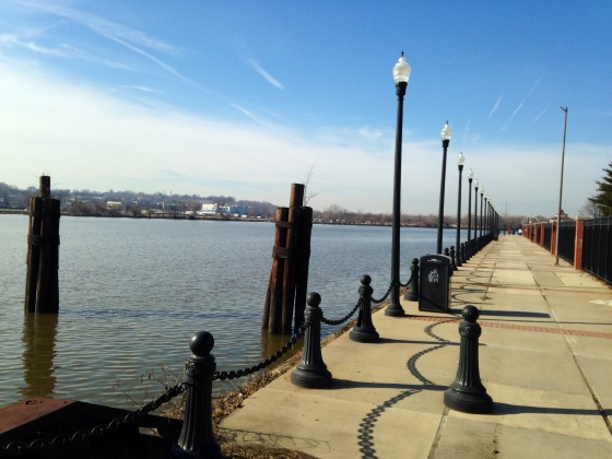 This is the Anacostia River Walk, which my sister says is really nice in summer. Personally, I was expecting more trees.