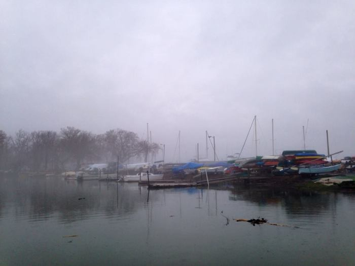 A view of the Belle Haven Marina. Looks like you can rent canoes.