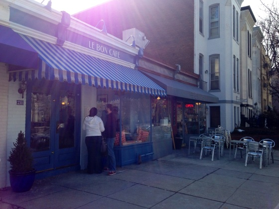 Some brunch spots on Pennsylvania Avenue in the Capitol Hill neighborhood. Because it was the first nice day we've had in a while -- and DC residents have an inordinate love of brunch and mimosas -- a lot of these brunch places had long lines.