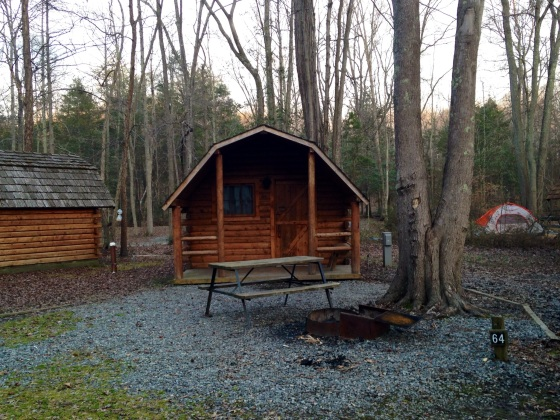 The cabin we stayed at. Not exactly hardcore back country camping, but what's cozier than a log cabin?