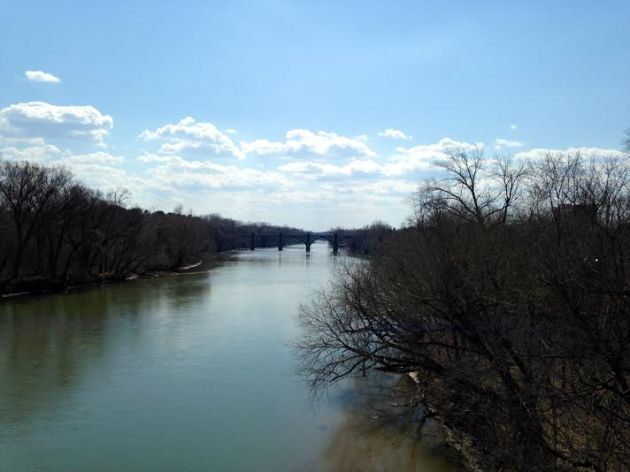 A view of the Rappahanock River from the Chatham Bridge.