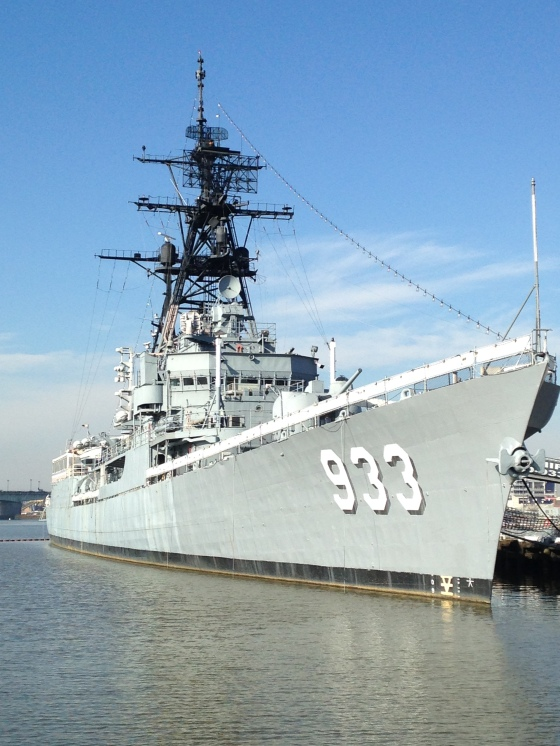 We took the Anacostia River Walk from Capitol Hill to Navy Yard. This was a big ship along the way.