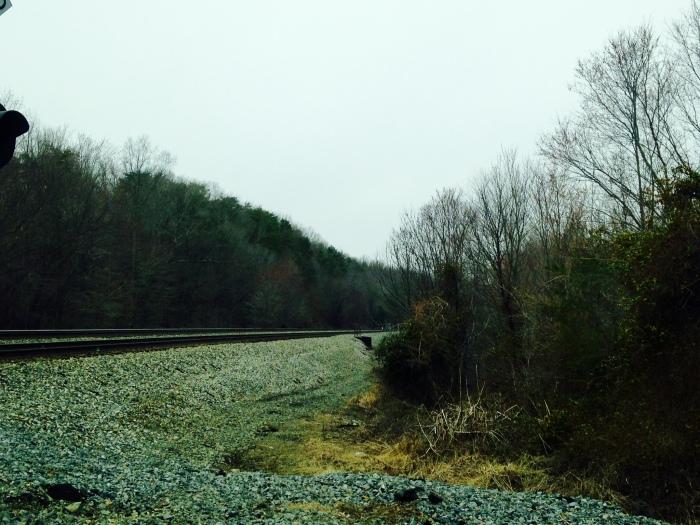 Railroad tracks outside Fredericksburg