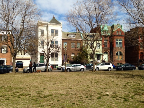 Typical Capitol Hill row houses.