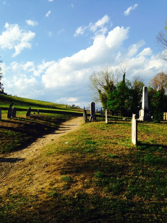 On our way up we walked through this cemetery which accurately captured mood at that particular moment.