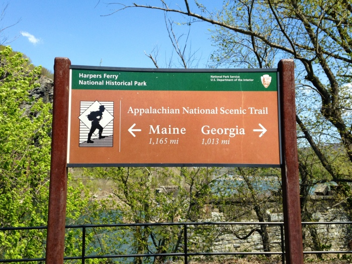 The Appalachian Trail runs right through Harpers Ferry. We had two choices: Georgia or Maine, and we chose neither.