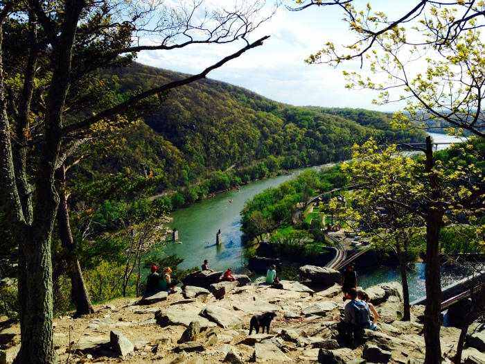 But then, we finally made it. It was worth it, the views of Harpers Ferry were great. But unfortunately, it was so sunny none of my pictures of town came out.