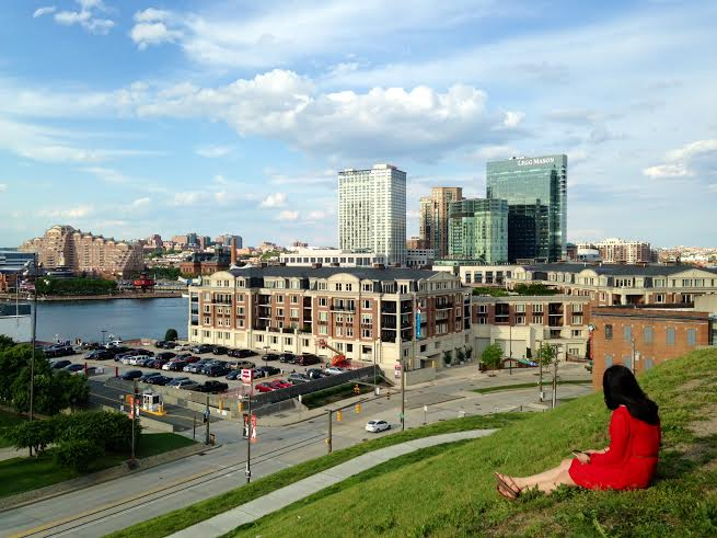 View of Baltimore from Federal Hill.