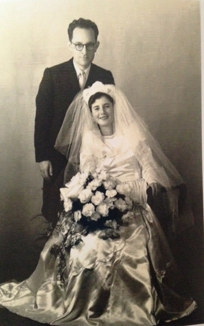 Grams was hardcore about her bouquet, veil, and dress.