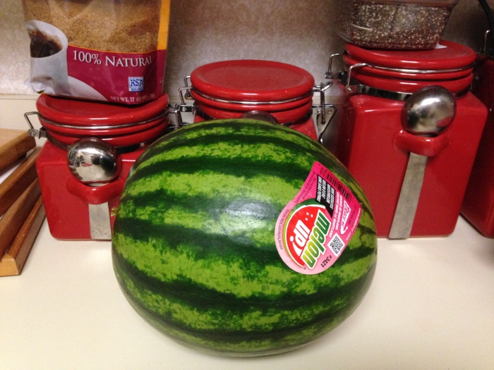 My adorable personal watermelon.