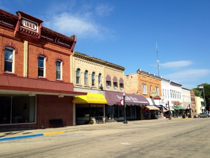 This is Baraboo, birthplace of the Ringling Brother's Circus and all around adorable town. Except it was so completely empty that it was spooky. Granted it was Sunday, but the utter lack of people was disconcerting.