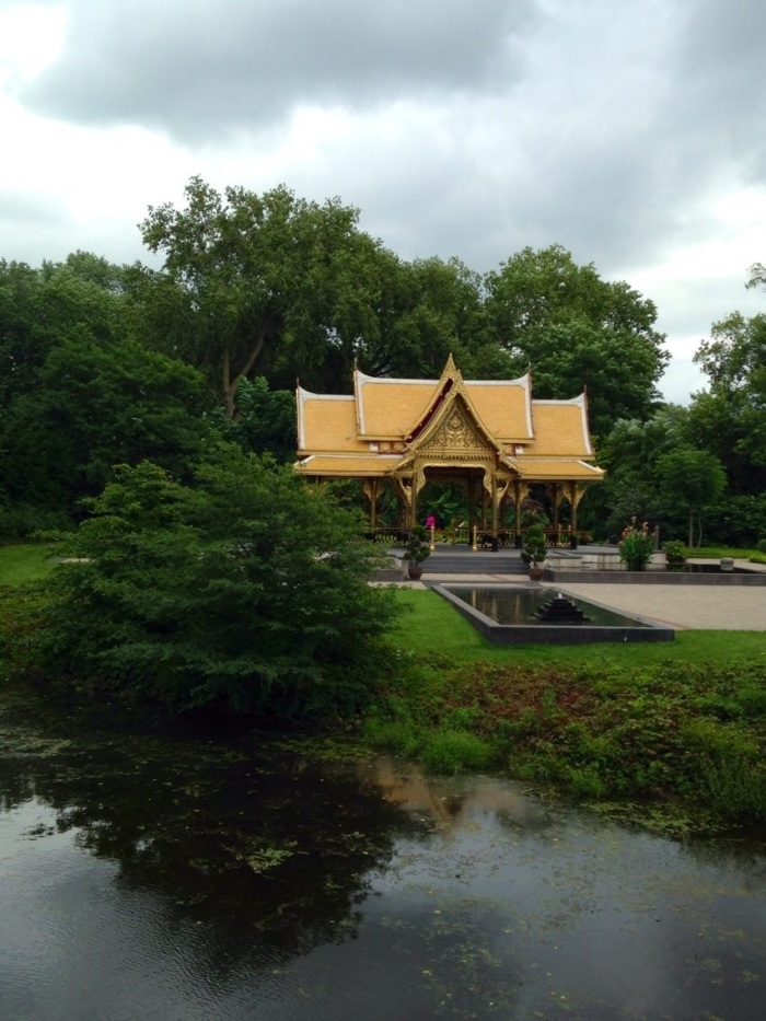 Despite the fact that I I don't have any particular fondness for gardening (I have three houseplants to my name) I really enjoy visiting gardens. This is the Thai temple at the Olbrich Botanical Gardens.