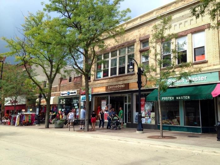 This is State Street, a fun pedestrian street near downtown. It seemed like a big college kid hangout.