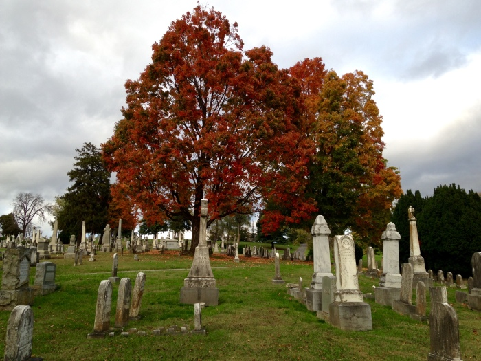 We ended our trip at the Thornrose Cemetery at the edge of historic downtown.