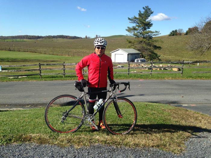 143 miles of biking.