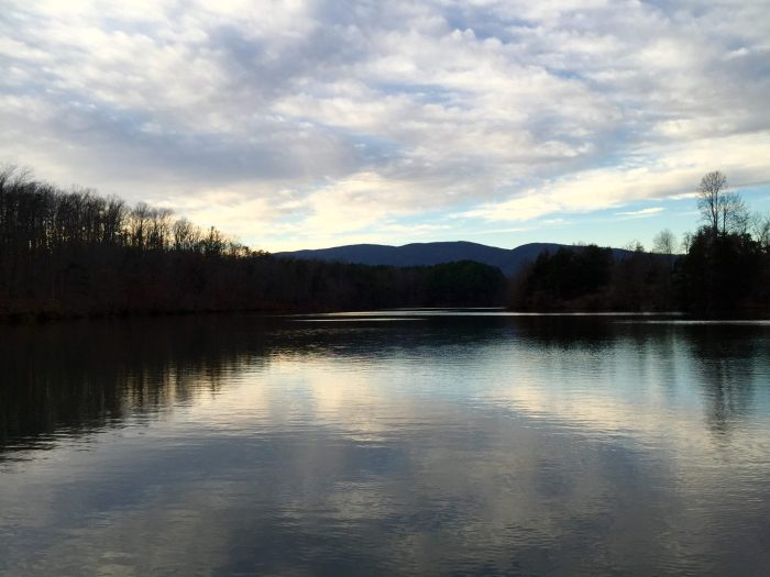 Beaver Creek Lake outside Charlottesville. A solitary and frigid winter fishing experience.