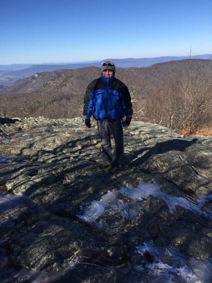 Boyfriend on top of Loft Mountain.
