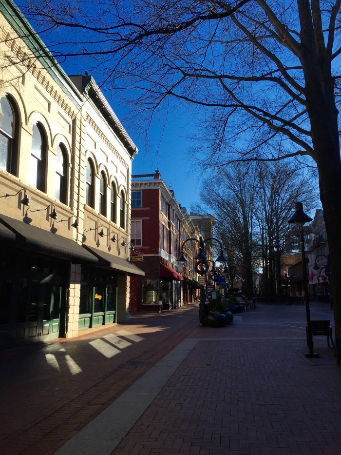 We got to Charlottesville around 8:30, before the shops, street vendors and many of the restaurants opened.