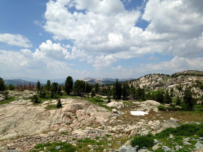 Beartooth Highway top of mountain