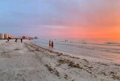 Dusk at Sand Key Beach