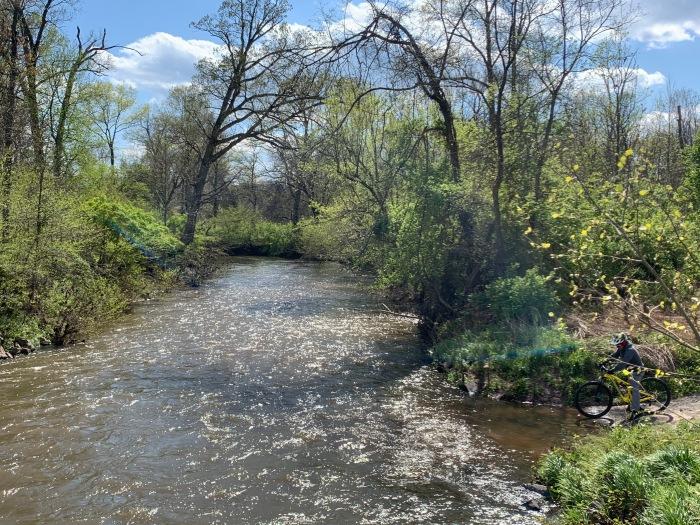 Walk Bike Ride raging creek