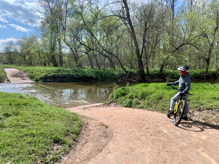 Walk paved trail creek